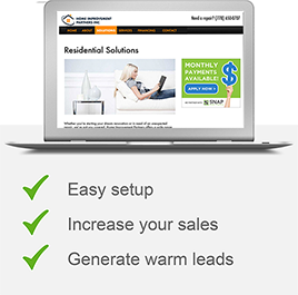 Easy setup, Increase your sales, Generate warm leads